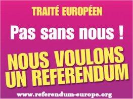 Europe : pas sans nous ! Appel des 200 pour un référendum sur le nouveau Traité européen