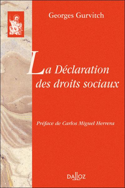Georges Gurvitch, les droits sociaux et l'autogestion