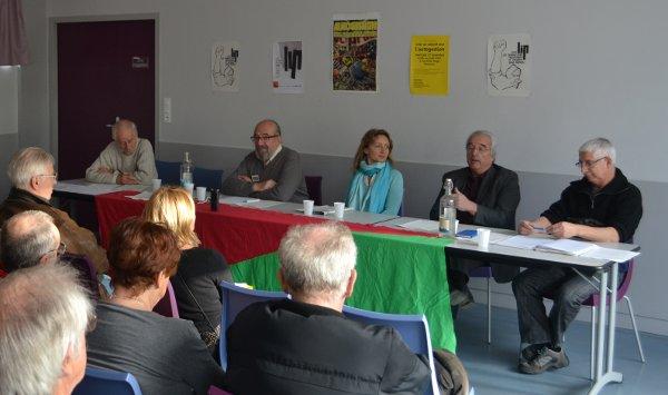 Charles Piaget et les représentants de Fralib, Ceralep et Pilpa - Crédit Nicolas Tamasauskas