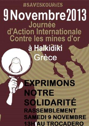 9 novembre 2013: Journée mondiale d'action contre les mines d'or en Chalcidique