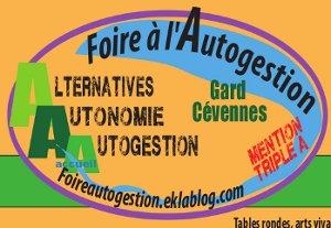 Foires à l'autogestion à Quimper (29) et Saint-Jean du Gard (30)