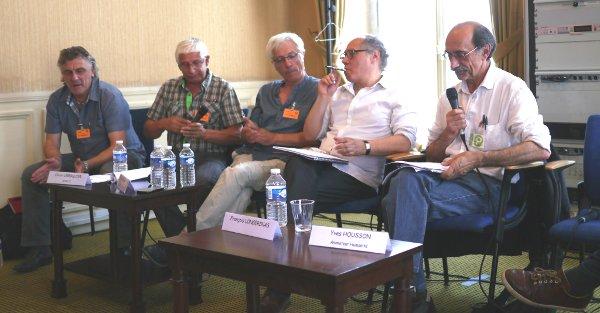 Les représentants de SCOP-TI, La Fabrique du Sud et de l'EMI CFD