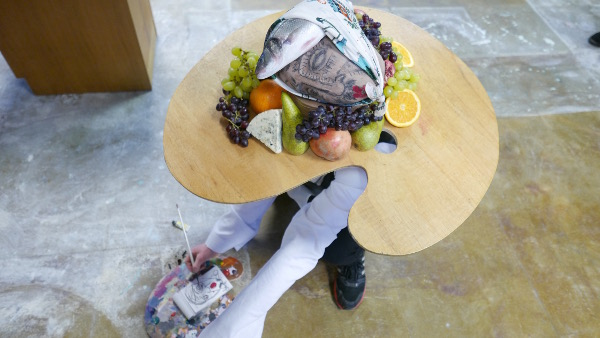 Mathis Collins, performance pour Agenda Salad, novembre 2015. Photo : Carla Cruz.