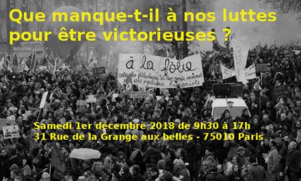 1er décembre : Que manque-t-il à nos luttes pour être victorieuses ?