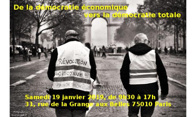 19 janvier : De la démocratie économique vers la démocratie totale