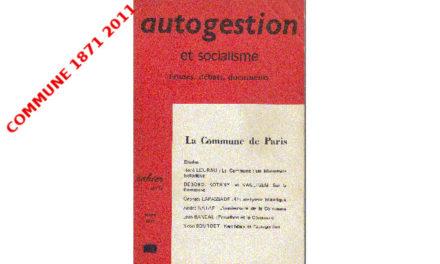 La Commune : un laboratoire historique (contre-culture, contre-société, contre-institution)
